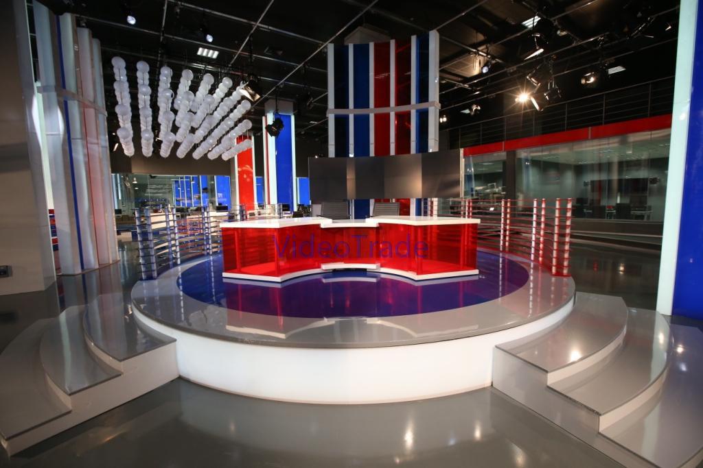 Видеостены в телевизионной студии Life News в г. Москва.-1