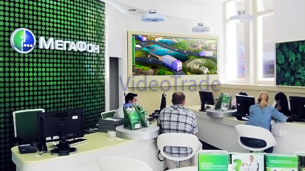 Многофункциональный аудио визуальный комплекс нового бизнес-офиса cтоличного филиала «Мегафон».-1